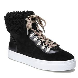 Sam Edelman Luther Faux Shearling High Top Sneaker